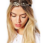 Недорогие -старинные золотые листья волос ювелирных волосы кристалл лента для волос оголовье глава цепь accessires головы украшения