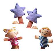 Недорогие -Игрушки Пальцевые куклы Марионетки Высокое качество текстильный Плюш Милый стиль Милый Оригинальные Девочки Мальчики Подарок