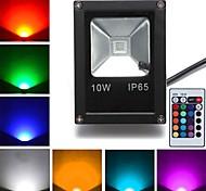 10W Focos de LED 1 LED de Alta Potência 800 lm RGB K Controle Remoto AC 85-265 V