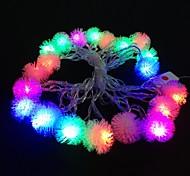 Недорогие -Плюшевые мяч 5м 4.8W Рождество вспышка 20-LED RGB света полосы света лампы (ЕС Plug переменного тока 110-220В)