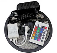 5M 150X5050 SMD RGB LED Strip Light and 24Key Remote Controller and 3A US Power Supply (AC110-240V)