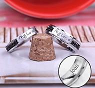 Недорогие -персональный подарок кольца пара из нержавеющей стали выгравировано ювелирных изделий