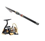 cheap -3.6 Carbon Sea Fishing Medium Fishing Rod & Reel Combos Fishing Reel YB5000 Spinning Fishing Reels