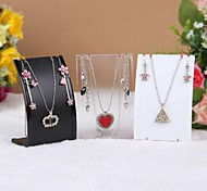 Fashion Plastic Jewelry Display For Jewelry Set (White,Black,Transparent)(1pc)