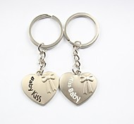 cheap -Personalized Engraving Kiss Baby Metal Couple Keychain