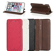 abordables -Contracted Lace Design PU Full Body Case with Stand for iPhone 6(Assorted Colors)