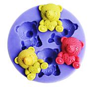 Bear Love Shaped Bake fandant mold,L4.5cm*W4.5m*H0.9cm
