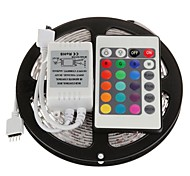 cheap -5m RGB Strip Lights Light Sets Flexible LED Light Strips LEDs Remote Control / RC Cuttable Dimmable Self-adhesive Linkable DC 12V