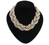 cheap -Women's Statement Necklace - Simple Style European Black Silver Dark Gray Necklace For