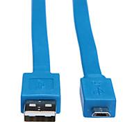 Недорогие -выиграть 2м 6.56ft USB2.0 мужчина к микро расширения USB USB мужчина кабеля для передачи данных с мобильного телефона на андроид