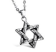 Недорогие -Муж. форма Ожерелья с подвесками Титановая сталь Ожерелья с подвесками Для вечеринок Повседневные
