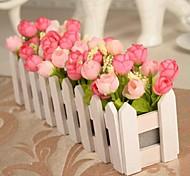 Филиал Полиэстер Розы Букеты на стол Искусственные Цветы 30 x 10 x 10(11.8'' x 3.94'' x 3.94'')