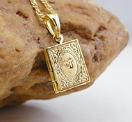 18k золотой покрытием Аллах мусульманскую книгу кулон
