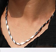 cheap -Stainless Steel Chain Necklace - Unique Design Fashion Others Geometric Silver Necklace For Christmas Gifts Wedding Party Gift Daily