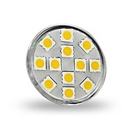 GU4(MR11) LED Spotlight MR11 12 leds SMD 5050 Decorative Warm White Cold White 300lm 2800-3200K DC 12V