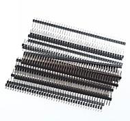 Недорогие -1 х 40 контактный заголовки 2,54 шаг один ряд под прямым углом PCB PIN-код (20шт)