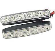 cheap -Carking™ 12V 6LED Car Light DRL Daytime Running Head Lamp-White Light(2PCS)