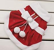 Недорогие -Кошка Собака Костюмы Платья Рождество Одежда для собак Косплей Рождество Новый год Бант Красный Костюм Для домашних животных
