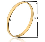 6cm Width TB Smooth Gold Plated Golden Bangle S Size(1 Piece)