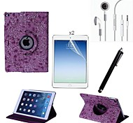 cheap -PU Leather Full Body Case with Touch Pen and Protective Film 2 Pcs and Headset for iPad Air 2/iPad 6