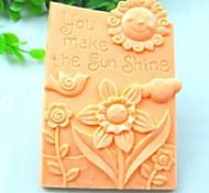 Недорогие -Вы делаете солнце светит птица цветок помады торт шоколадный силиконовые формы украшения торта инструментов, l10.6cm * w8.1cm * h3cm