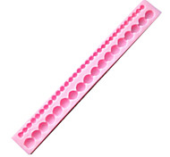 Long Pearl Shaped Baking Fondant Cake Choclate Candy Mold,L21.5cm*W2.5cm*H1.2cm