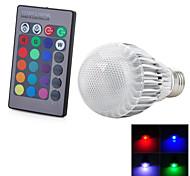 Недорогие -E26/E27 Круглые LED лампы 1 светодиоды Integrate LED На пульте управления Холодный белый RGB Красный Синий Желтый Зеленый Фиолетовый