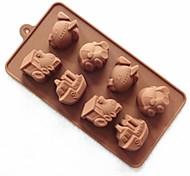 Недорогие -8 дыра форма автомобиля торт плесень льда желе формы шоколада, силиконовая 23 × 12 × 2,5 см (9 × 4,7 × 1 дюйм)