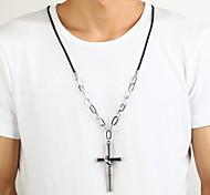 цинковый сплав серебра бамбука крест кольцо кулон ожерелье