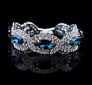 роскошь высокого качества круглый большой браслет кристалл (синий&серый)