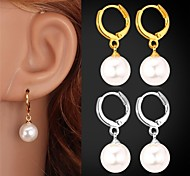 cheap -Pearl Drop Earrings - Pearl, Imitation Pearl, Platinum Plated Birthstones Silver / Golden For Wedding / Party / Daily / Gold Plated