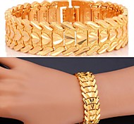cheap -Women's Zircon Gold Plated Heart Chain Bracelet - Personalized Luxury Classic Jewelry Silver Golden Bracelet For Christmas Gifts Wedding
