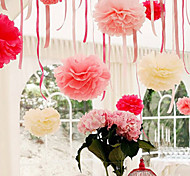 cheap -10 inch Tissue Paper Pom Poms Wedding Party Decor Craft Paper Flowers Wedding(Set of 4)