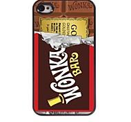 шоколад алюминиевая конструкция трудный случай для iPhone 4 / 4s