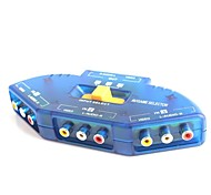 3-In-1-Out AV Audio-Video Signal Switcher for DVD / VCD / TV Game