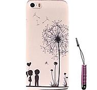 Dandelion Child Under  Pattern Hard Case & Touch Pen for iPhone 4/4S