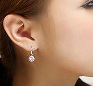 cheap -Earring Jewelry Wedding / Party / Daily Silver / Sterling Silver Silver
