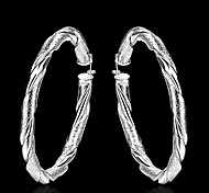 cheap -Women's Hoop Earrings Fashion Brass Jewelry Daily Costume Jewelry
