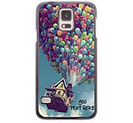 персонализированные телефон случае - воздушный шар дизайн корпуса металл для Samsung Galaxy S5 i9600