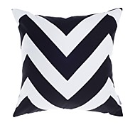 "cheap -Modern 18"" Square Striped Pillow Cover/Pillow With Insert"