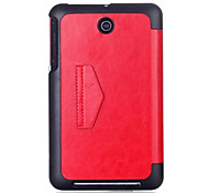 cheap -Case For Asus Full Body Cases Cases with Stand Full Body Cases Solid Color Hard PU Leather for