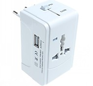 Universal Travel Power Plug Adapter with 1 USB for International Travel