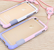 abordables -Funda Para Apple iPhone 6 iPhone 6 Plus Other Marco Antigolpes Color sólido Suave TPU para iPhone 6s Plus iPhone 6s iPhone 6 Plus iPhone 6