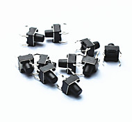 cheap -PA66 DC 12V 50mA Tact Switch - Black (10-Piece Pack / 6 x 6 x 5mm)