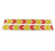 Недорогие -автомобиль авто модели безопасности отражающие наклейки- (2 шт) желтый& красный