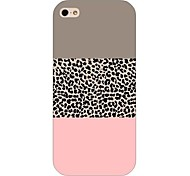 economico -Per Custodia iPhone 5 Custodie cover Fantasia/disegno Custodia posteriore Custodia Leopardato Resistente PC per iPhone SE/5s iPhone 5