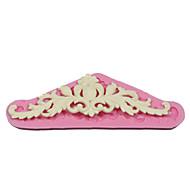baratos -3d flor bolo de casamento molde fondant silicone açúcar de confeiteiro videira molde decorar molde de silicone bolo fronteira