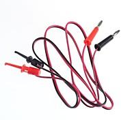 Test Line / Banana Plugs Turn Test Hook / 2 Plug Hook Turn 2(1 M Cable Length)