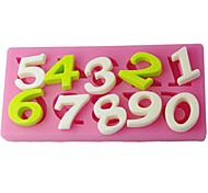 Недорогие -FOUR-C сахар ремесленные инструменты номер торт тиснение плесени, украшение торта, помадной отделочных работ поставляет розовый цвет