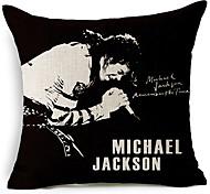 современный стиль Майкла Джексона пение рисунком хлопок / лен декоративная подушка крышка